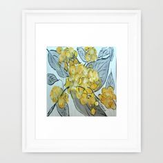yellow phlox with gray leaves