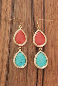 Ocean Coral Earrings