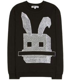 Mcq Alexander McQueen - Sweat-shirt noir en coton à broderies
