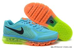 official photos a47e0 e673d Outlet Men    s Nike Air Max 2014 Running Shoes Jade Green Orange Black Buy