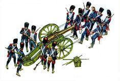 French artillerie a pied de la Garde & their 12 pounder smoothbore cannon