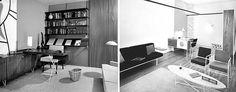 Imid-century modern interiors by Alvin Lustig