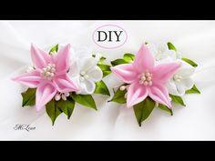 Резиночки Пышный цветок школьный бант канзаши из атласных лент. Мастер класс. Lush school bow - YouTube