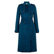 Buy Hobbs Callaghan Wool Trench Coat, Sea Blue Online at johnlewis.com