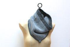Hand Knit Merino Wool Oversized Infinity Scarf in by AmyLaRoux