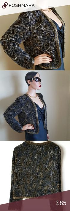 Vintage 1980's JACK BRYAN Beaded Evening Jacket Coming soon... Vintage Jackets & Coats