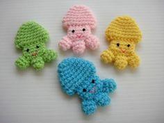 Crochet Applique - Baby Jellyfish