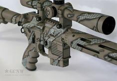 FDE Shadowstripe*** on a 6.8 SPC   www.guncoat.com