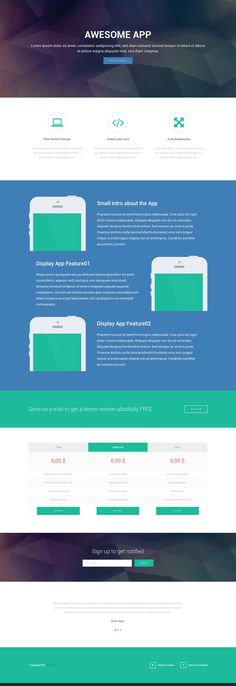 Responsive Landing Page HTML Template - Freebies - Fribly