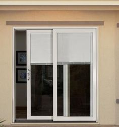 Patio   Sliding Glass Doors With Internal Miniblinds
