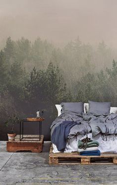 Misty Forest Mural