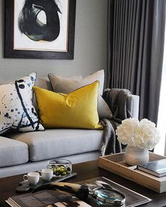 Abstract Art Beautiful Colours Clean Lines #ABC of chic spaces! #inspo #beddingsnbeyond