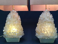 New Natural Ámbar Rock Crystal pair of lamps on Bronze base and silk shade. Made by www.demianquincke.com #quartz  #design #luxe #luxurydesign #art #lamp #interior #interiordesign #brazil #decore #crystal #rockcrystal #deluxe #love #collection #rock #brasil #Tabellamp #nightstand #rockcrystallamp #living #rockcrystallight #homedecore #citrine #crystalhealing #abatjour