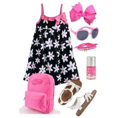 Toddler Girl Summer, created by kerimcd on Polyvore