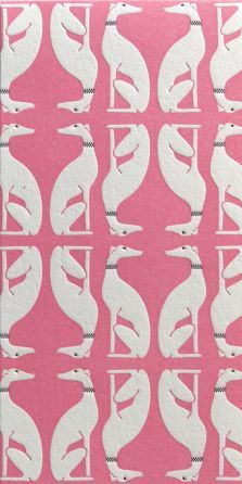 Whippet pattern - preciso!!! Pretty Patterns, Color Patterns, Beautiful Patterns, Dog Pattern, Pattern Art, Italian Greyhound, Greyhound Art, Textile Design, Fabric Design