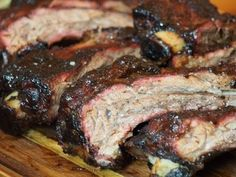 A smoked beef ribs recipe using a barrel smoker making one of the simplest means to end your cook with juicy, meaty, beef ribs. Bbq Beef Ribs, Beef Short Ribs, Beef Steak, Rib Recipes, Cooker Recipes, Recipies, Barbecue Recipes, Grilling Recipes, Smoked Beef Ribs Recipe