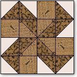 "Double Spinwheels Quilt Block Pattern and Instructions 12"" block"