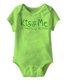 Key Lime 'Kiss Me' Bodysuit - Infant