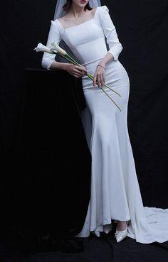 Mature Wedding Dresses, Rental Wedding Dresses, Bridal Dresses, Boho Wedding Gown, Elegant Wedding Gowns, Long Sleeve Wedding, Wedding Dress Sleeves, Lovely Dresses, Elegant Dresses