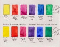 Jane Blundell: Colour exploration - Super bright 6 colour palettes