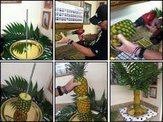 New fruit display for party diy palm trees Ideas Pineapple Palm Tree, Pineapple Fruit, Fruit Centerpieces, Fruit Arrangements, Luau Party, Diy Party, Party Ideas, Fruit Tables, Deco Fruit