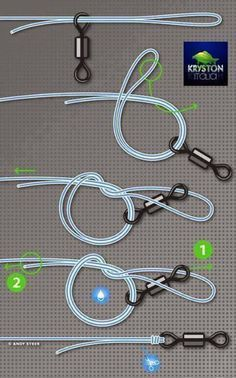 Simple fishing Knot, easy to tie, won't let go. Especially good for slippery line like braided synthetics. It is known as the Palomar knot.