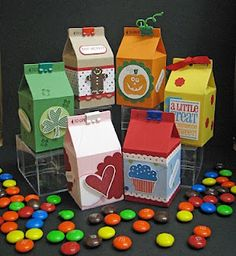 Paper Rose Studio: More Pictures of Many Mini Milk Cartons