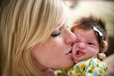 mom loves kisses, funny baby pictuers