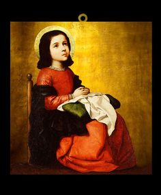 La Virgen Niña (Zurbarán) Madonna, San Bernardo, Lace Painting, Religious Pictures, Immaculate Conception, Hail Mary, Catholic Saints, Blessed Mother, Mother Mary