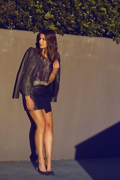Style Staple: The Leather Mini Skirt