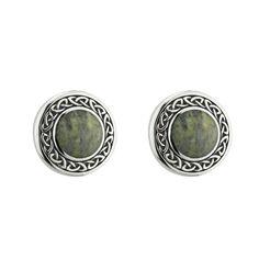 Sterling Silver Connemara Marble Stud Earrings