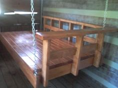 Now I'm going to have to build a porch suitable to house a swing bed like this!
