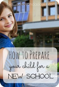 How to prepare your child for a new school. These 7 tips will help make the transition easier for everyone. New Parent Advice, Parenting Advice, Kids And Parenting, Mindful Parenting, Peaceful Parenting, Gentle Parenting, Back To School Hacks, School Fun, School Ideas