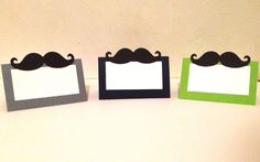 10 Mustache Place Cards - Little Man Birthday - Little Man Baby Shower - Little Man Party Decorations - Mustache Party - Pick any color by ParteeThings on Etsy https://www.etsy.com/ca/listing/255445234/10-mustache-place-cards-little-man