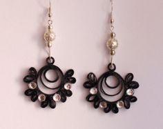 paper quilled earrings par ElysianMeraki sur Etsy