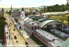 BRISBANE, Australia - Central Railway Station - vintage pc   -  Classicism Style architecture  OL built 1899