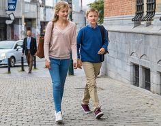 NewMyRoyals:  First Day of School for Belgian Royal children, September 1, 2016-Princess Elisabeth and Prince Gabriel
