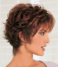 Heavily Layered Short Shag Wig | wigs | Pinterest