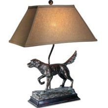 Dog Lamp. This would be in my man office. we have this Irish setter lamp in my husband Will's office( in memory of our irish setter Scarlet) my husband loves it. it was funny to see it on pinterest