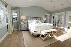 Wall color is Benjamin Moore's HC-146 Wedgewood Gray.  Another fantastic color.