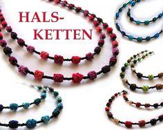 Halsketten Gull, Fair Trade, Beaded Necklace, Beaded Collar, Pearl Necklace, Beaded Necklaces