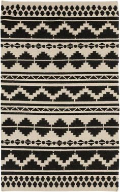 Frontier Feather Black/Grey Ikat Area Rug