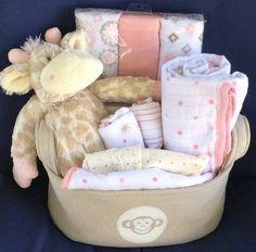 Gracie Giraffe Baby Basket #babygiftbaskets
