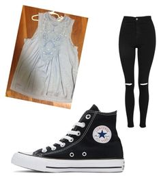 """Untitled #113"" by lilarana on Polyvore featuring Topshop and Converse"