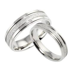 Sale 23% (4.99$) - Sweet Couple Ring Silver Plated Simple Wedding Finger Ring
