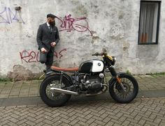 1983 BMW R80/7 airhead custom with black snowflake mag wheels and low profile seat | by Moto Adonis