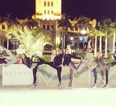 Julianne Hough and friends at the Beverly Hills ice rink.