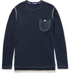 Junya WatanabeHoneycomb-Knit Cotton and Cashmere-Blend T-shirt