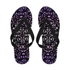 Sandals Flip Flops Damask Style Inspiration #Sandals #Flip #Flops #Damask #medusa81 #floral #velvet #vintage #retro #baroque #victorian http://www.zazzle.com/sandals_flip_flops_damask_style_inspiration-256982969470178955
