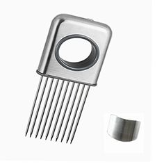 Foyou Onion Holder Slicing Guide Stainless Steel Prongs with Finger Guard Protector for Cutting >>> Check this awesome product by going to the link at the image.